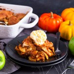 This Pumpkin Apple Cobbler is the epitome of Autumn! Pumpkin, spices, slices of apple and a crunchy, buttery topping make this one delectable dessert you won't be able to resist!