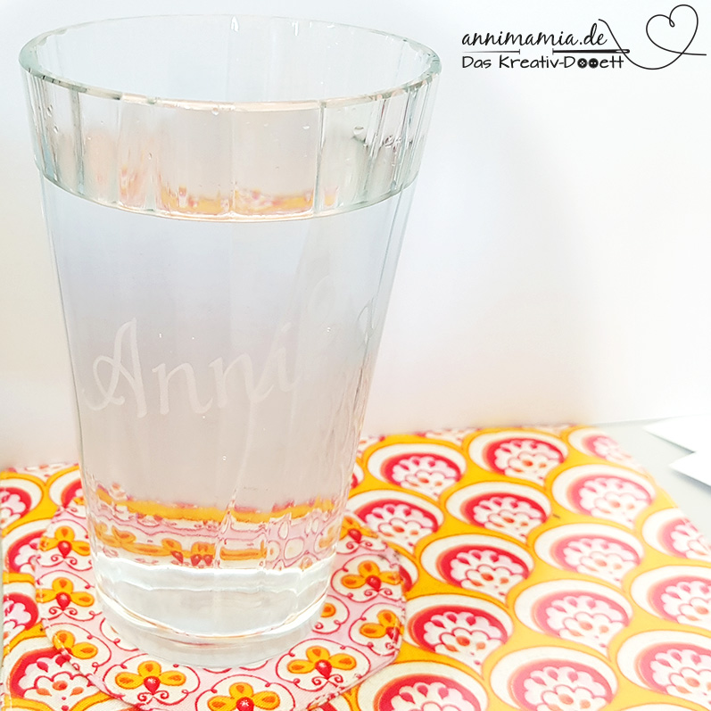 12 von 12: Wasserglas und Mug Rug