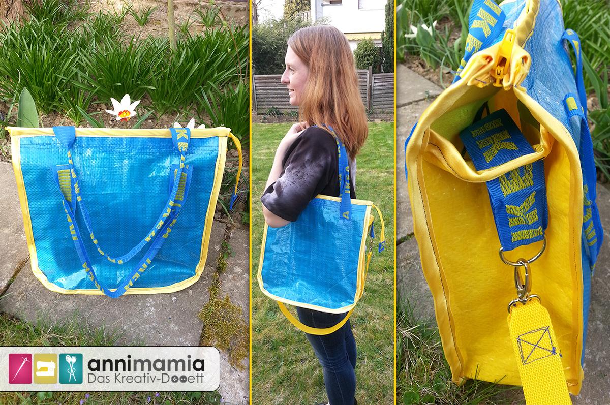 [Upcycling] Blau-Gelbe-Schweden-Tüte wird zum schicken Shopper