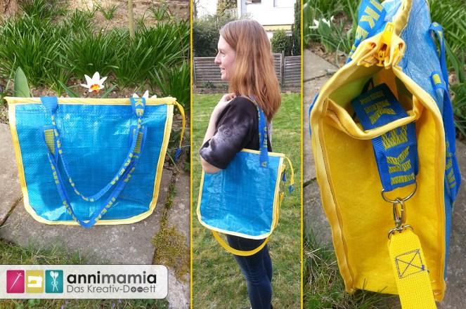 Ikea-Upcycling Tasche a la hosewear