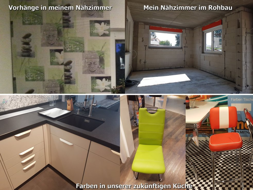Collage Nähzimmer und Küche