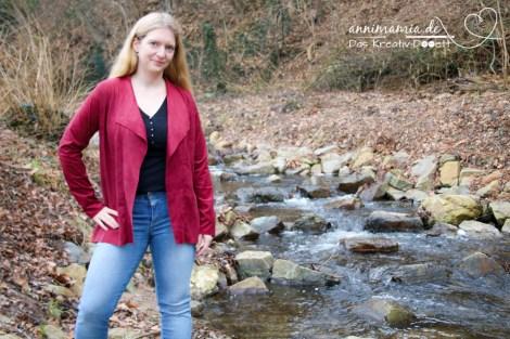 KreativAll 2017: Wildleder-Cardigan von Stoff-Ideen