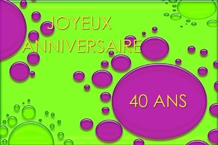anniversaire 40 ans com