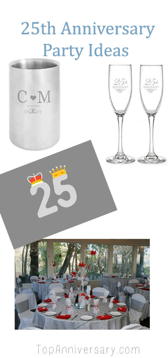25th Anniversary Party Ideas For Your Silver Wedding Anniversary