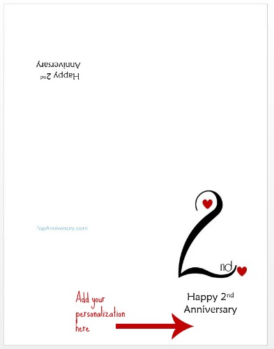 Free Personalized Anniversary Cards