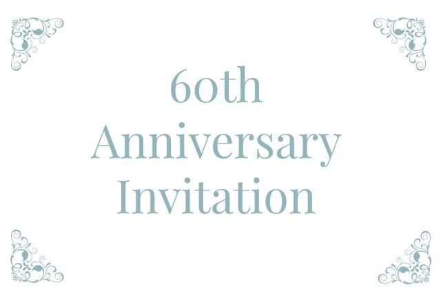 Pa S 60th Wedding Anniversary Invitations