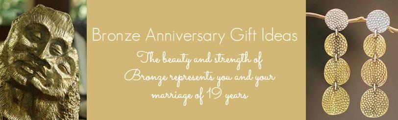 19th Wedding Anniversary Gift Ideas  In Bronze  Aquamarine