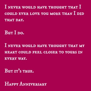 Perfect Anniversary Verses For Cards