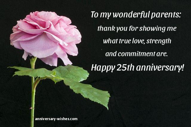 25th wedding anniversary wishes to parents u2013 best weddings 2018