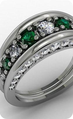 35th year anniversary appropriate gemstone emerald image