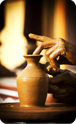 8th year anniversary traditional symbol - pottery image