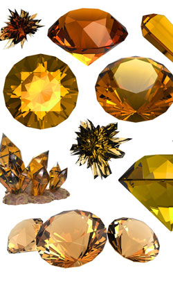 Diamond cut and crystal form of imperial topaz