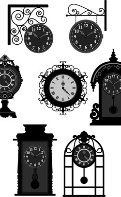 various timepieces used to represent the theme for the 31st anniversary