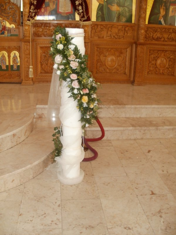 Traditional Weddings  Church Decorations  Annivia Gardens in Paphos