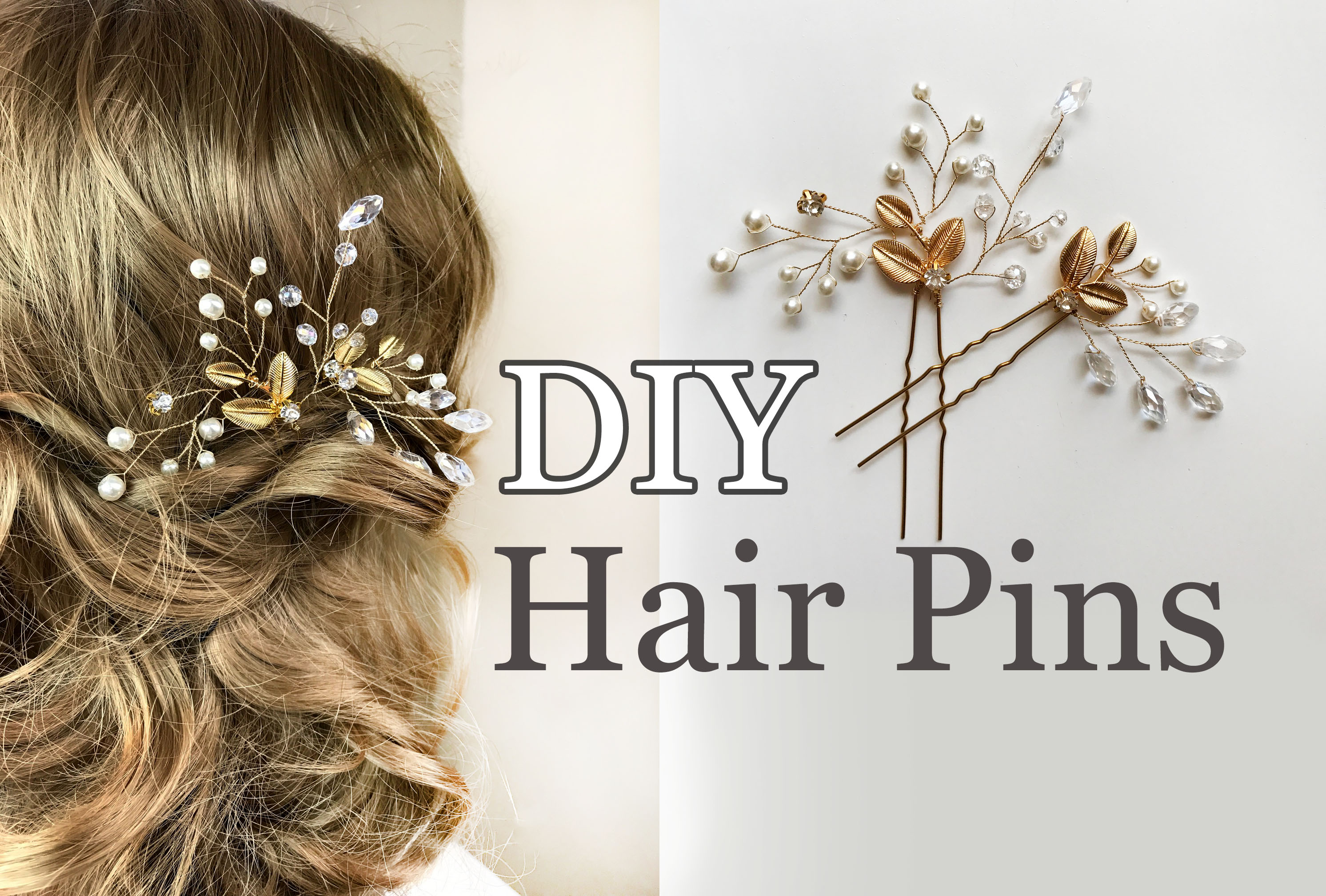 Easy diy bridal hair pins with gold leaves wedding hair comb easy diy bridal hair pins with gold leaves wedding hair comb tutorial annlace solutioingenieria Image collections