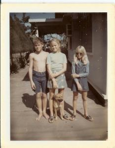 Mitzi (middle) with her siblings in Vientiane Laos 1970