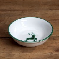 Green Deer (Stag) Compote Dish