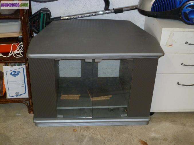 meuble tv avec plateau tournant