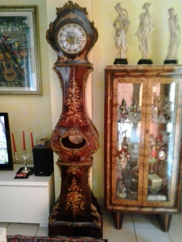 Orologio da parete a pendolo (radiocontrollo), moderno con vetro minerale e metallo, colore: Orologio Pendolo A Colonna