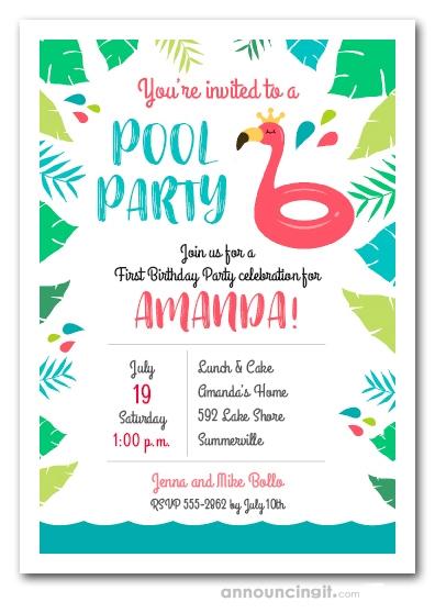 flamingo float pool party