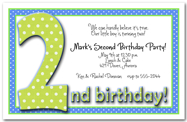 green blue dots 2nd birthday