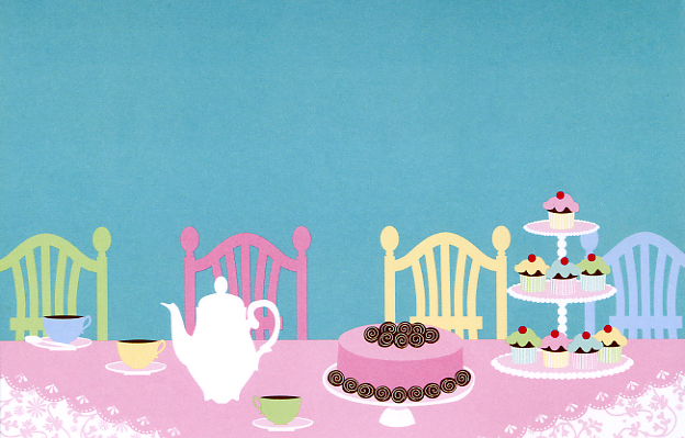 Sweets And Tea Party Invitations