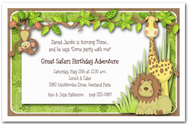 Zoo Wedding Invitation Wording