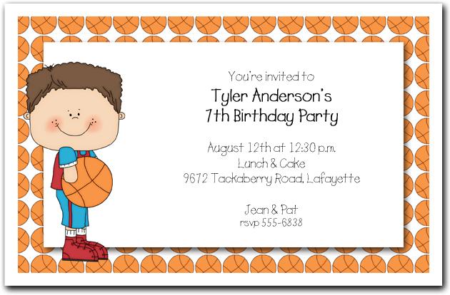 Boys Basketball Time Party Invitations Basketball Invitations