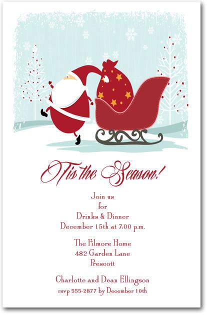 Christmas Eve Santa Party Invitations