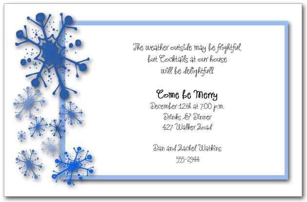 snowflake holiday cards