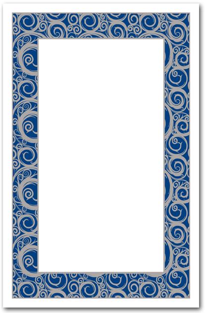 Silver Swirls On Blue Invitation Business Invitations