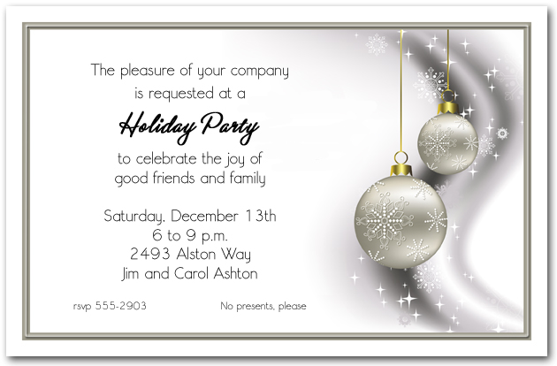 christmas party invite templates word