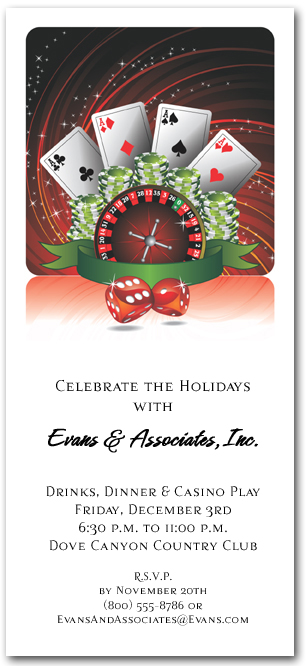 Casino Play Invitations for a Holiday Party