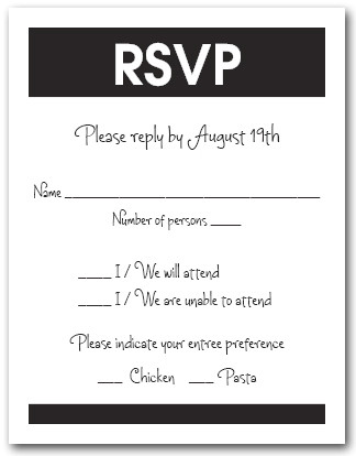 rsvp vs regrets only what should you