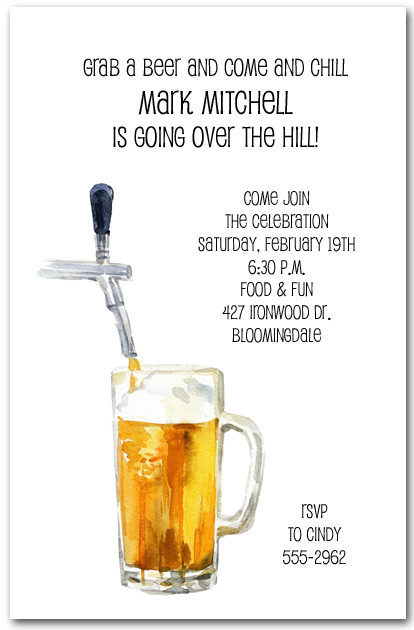 Beer And Tapper Invitations