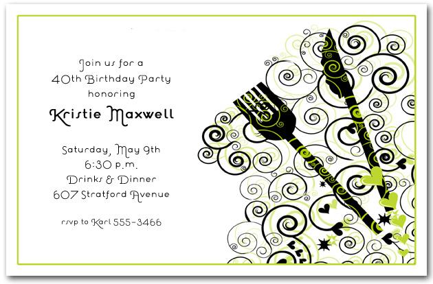 Casual Dinner Party Invitation Wording Gymnastics Birthday