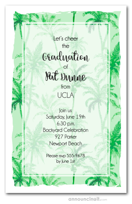 Palm Tree Background Party Invitations