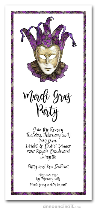 purple party invitations