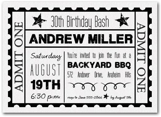 21st invitation black and white Cogimbous – Black and White 21st Birthday Invitations