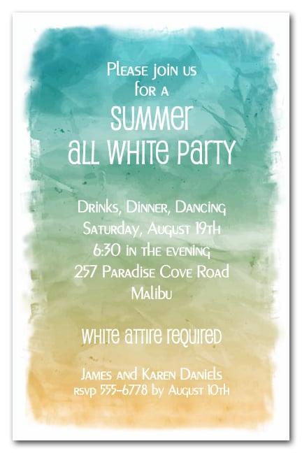 beach party invitations free printable