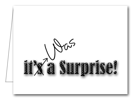 Note Cards: Black Dot Surprise Party Thank You Notes