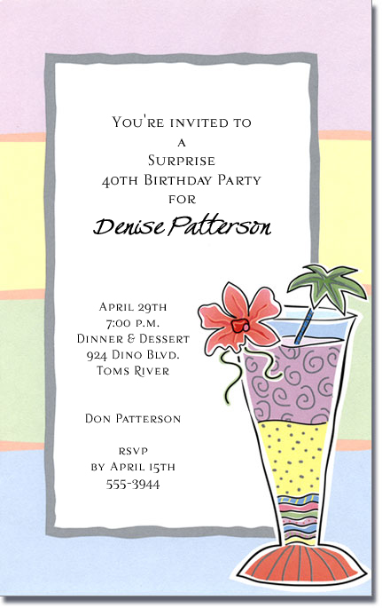 Tropical Cocktail Party Invitations