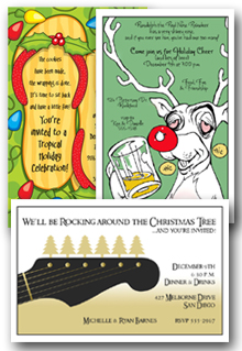 Whimsical Holiday Party Invitations Christmas
