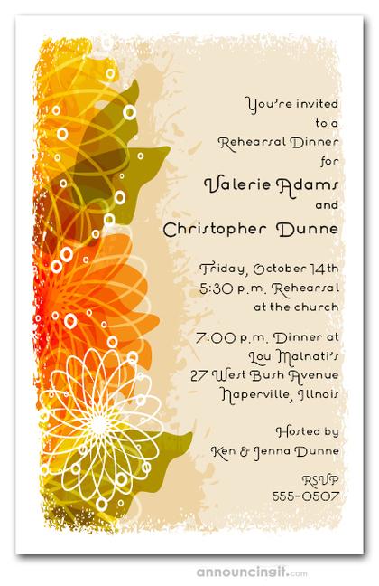 Autumn Floral Collage Invitations