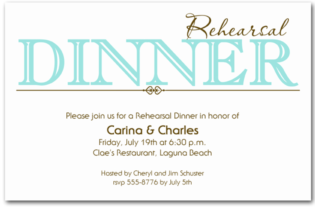 Rehearsal Dinner Invitations Quinceanera