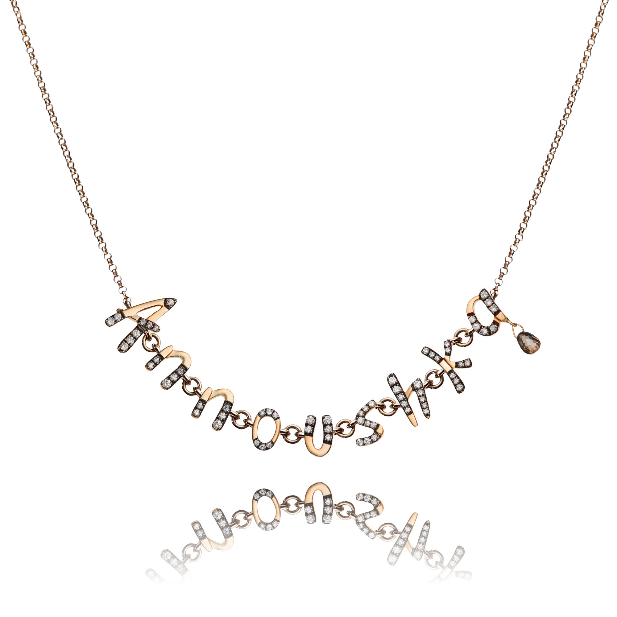 Personalised Rose Gold Chain Letters Necklace — Annoushka US