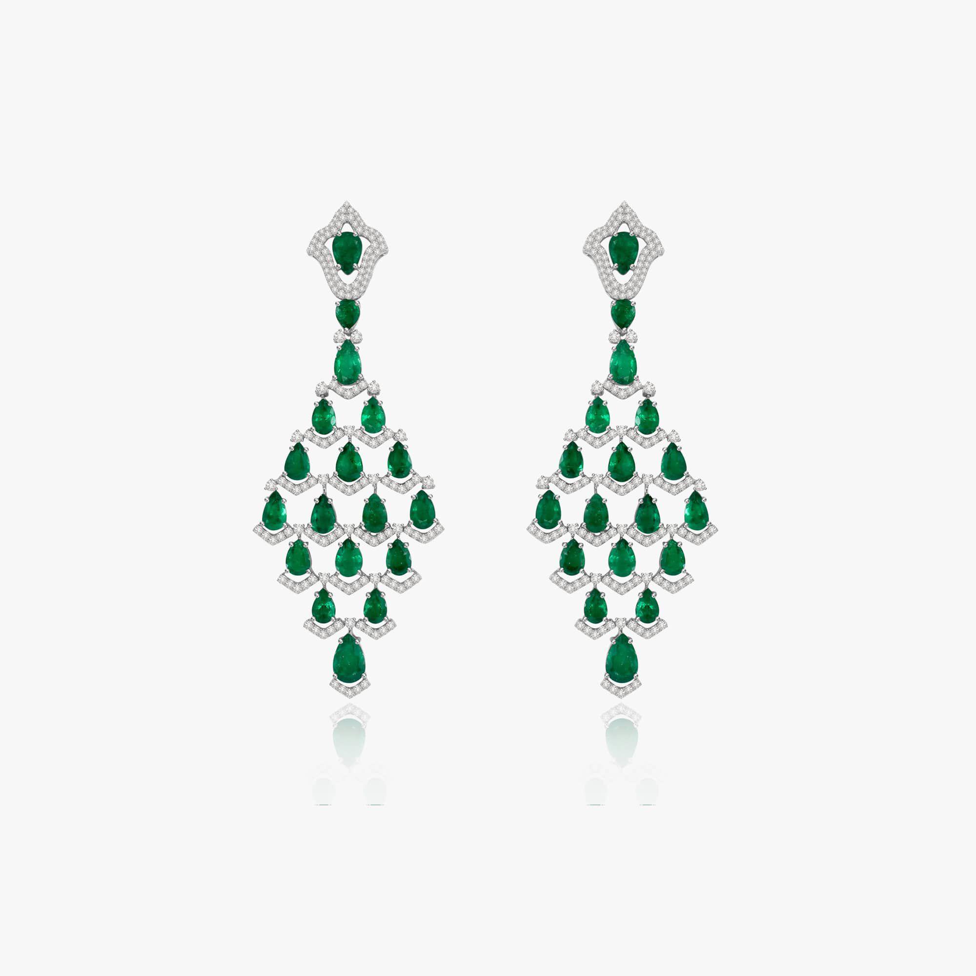 Sutra Emerald Earrings — Annoushka UK
