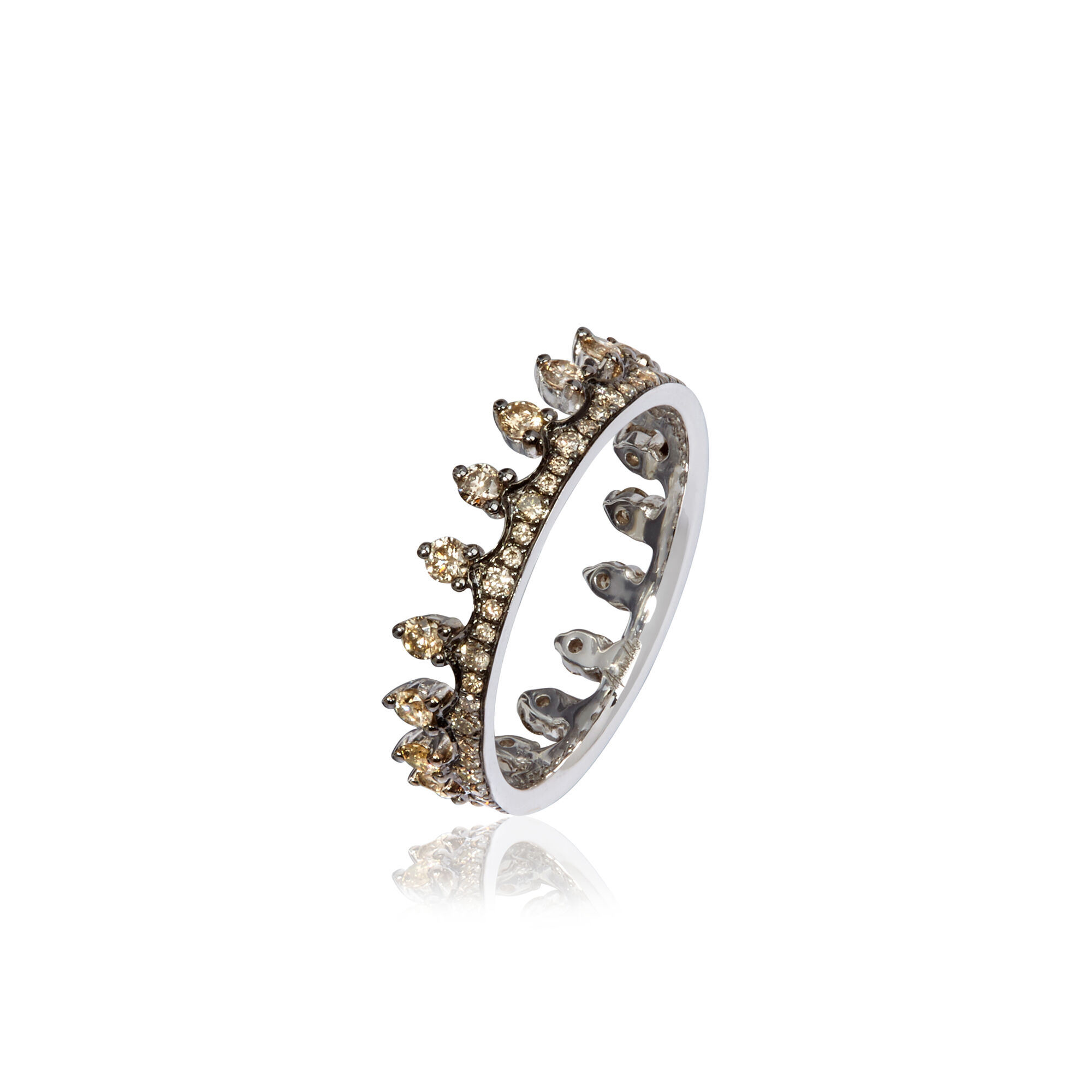 Crown 18ct White Gold Diamond Ring — Annoushka US