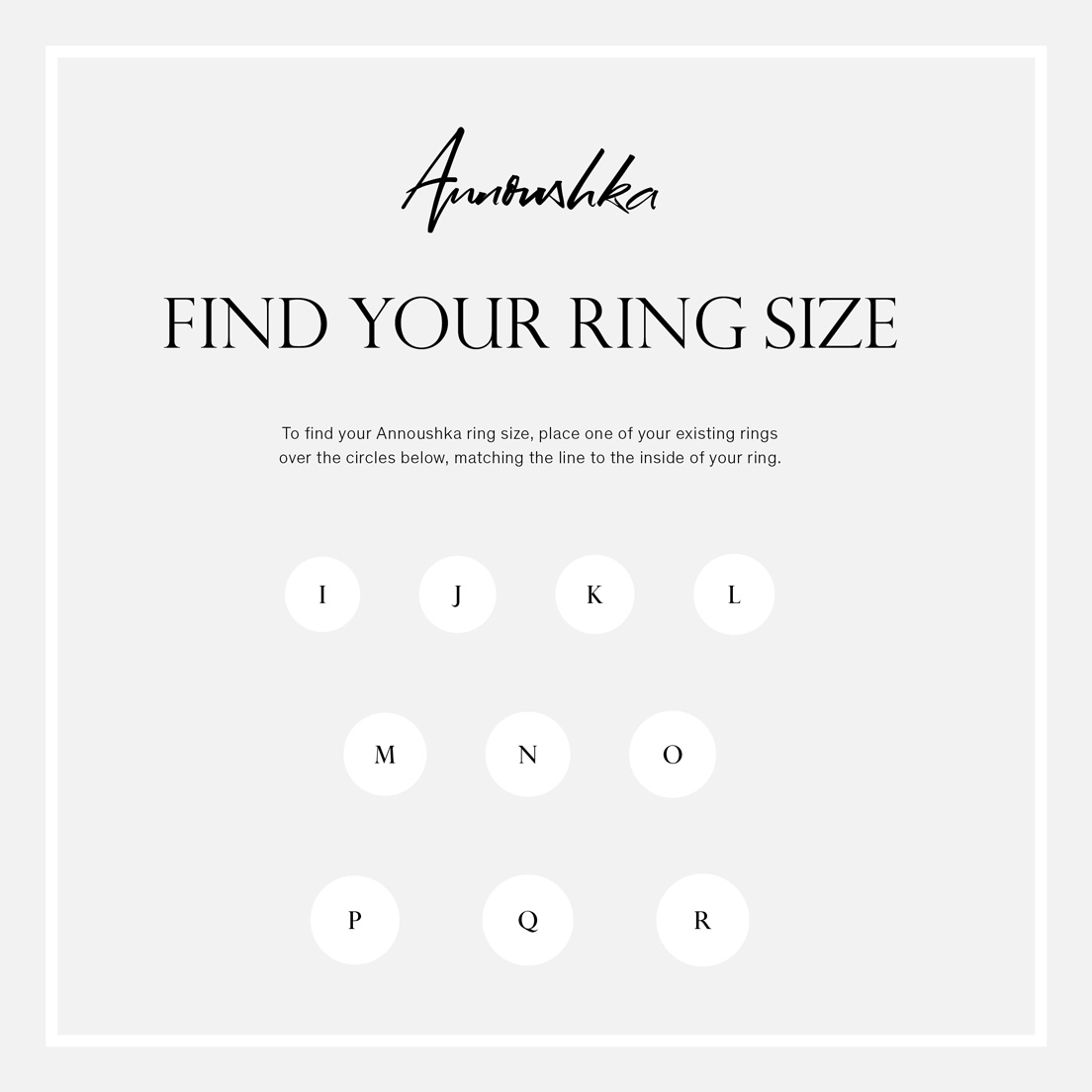 Find your ring size — Annoushka UK
