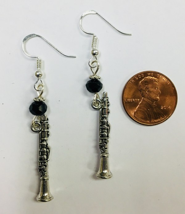 Clarinet Clarinetist Musician Themed Earrings
